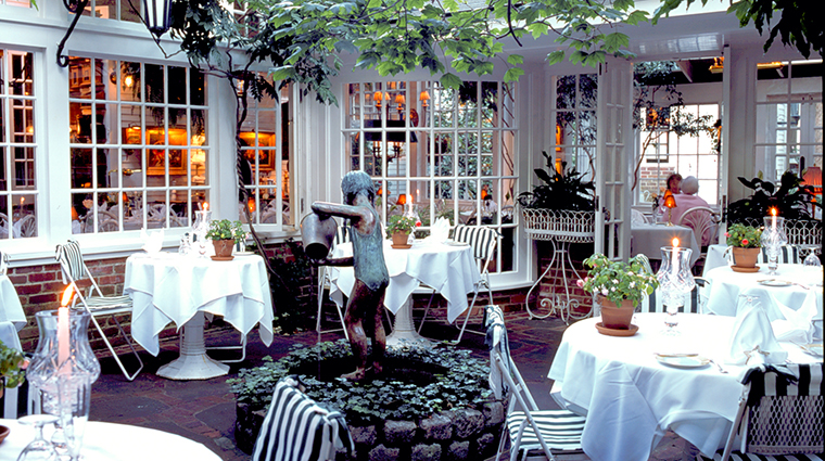 The terrace at the charlotte inn martha s vineyard for Terrace restaurant charlotte