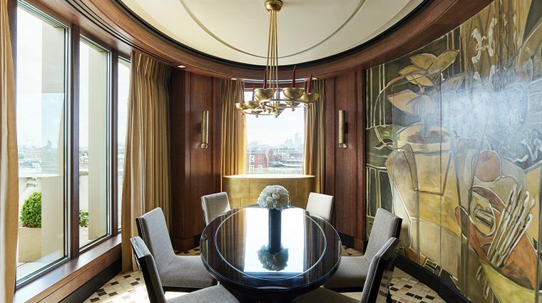 45 park lane Penthouse Suite Dining room