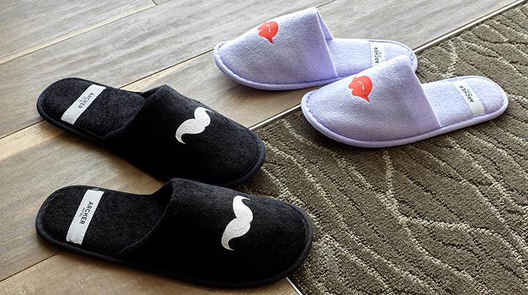 Archer Hotel Napa bath amenity details slippers