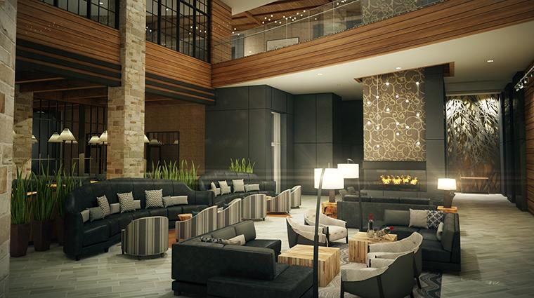 Archer Hotel Napa fireplace lobby