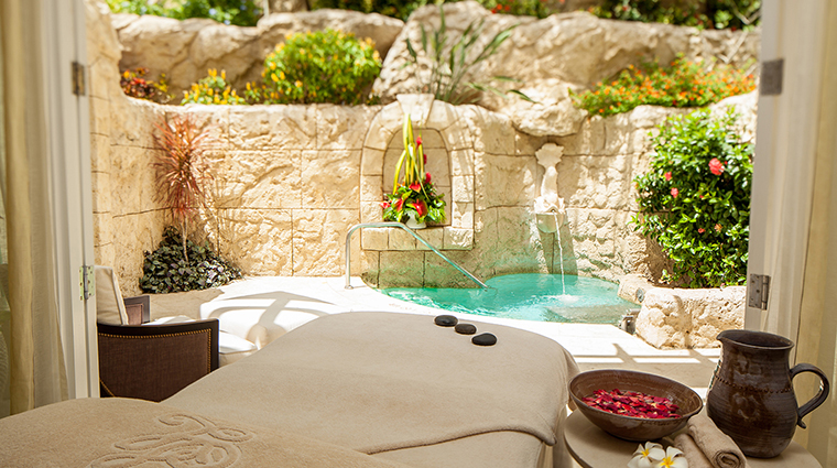 Barbados Spa treatment room plunge pool