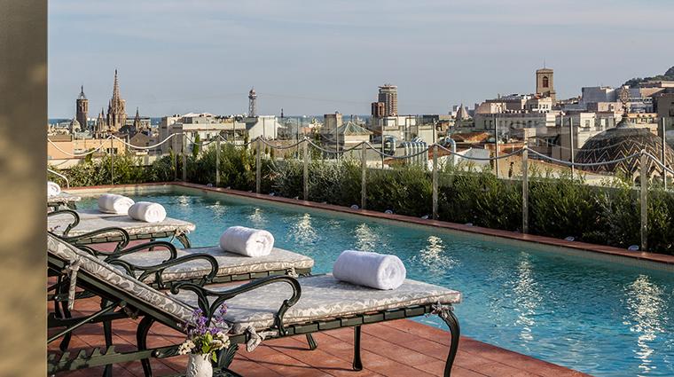 El palace barcelona pool