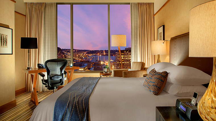 FTG Hotel PanPacificSeattle GuestroomandSuites Deluxe Queen City View CreditPan Pacific Seattle