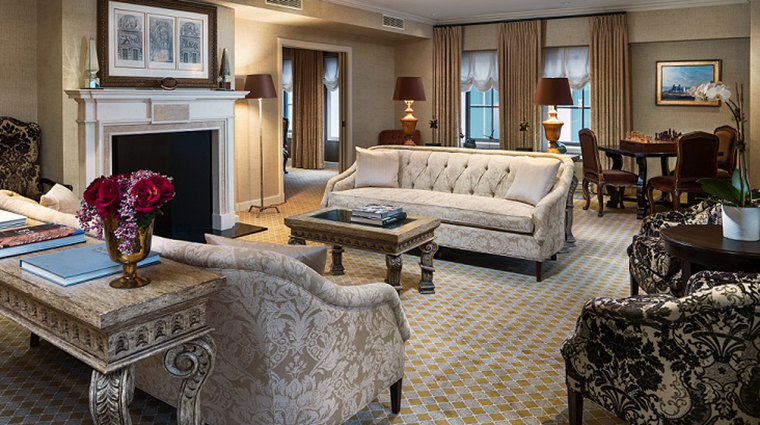 FTG Hotel StRegisWashingtonDC GuestroomandSuites Presidential Suite Living Room CreditStarwood Hotels & Resorts Worldwide Inc