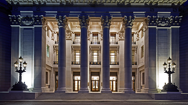 Four Seasons Hotel London at Ten Trinity Square exterior zoom night