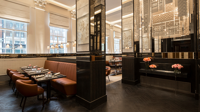 Four Seasons Hotel London at Ten Trinity Square restaurant booths
