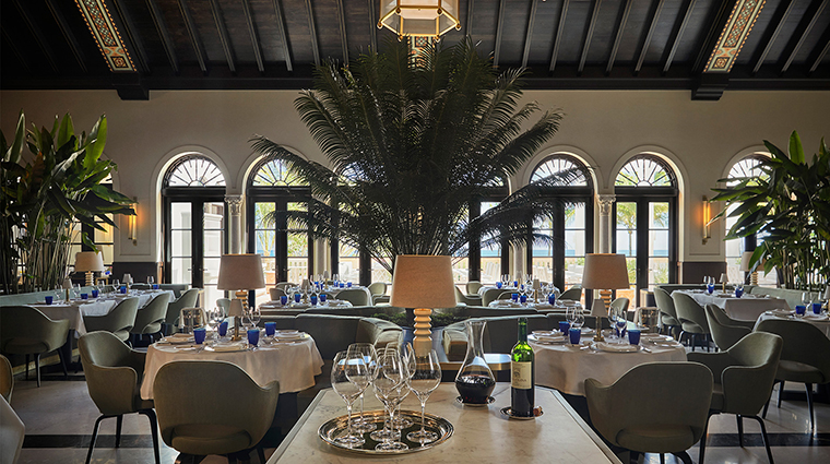 Le Sirenuse Miami at the Four Seasons Hotel at the Surf Club dining room