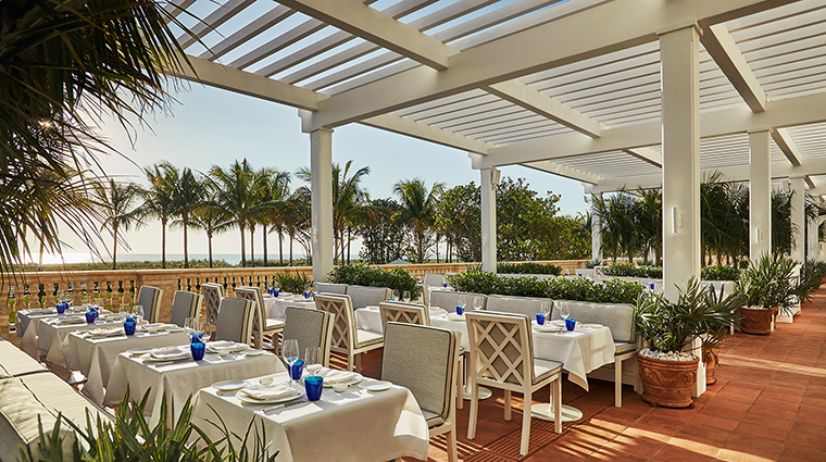 Le Sirenuse Miami at the Four Seasons Hotel at the Surf Club terrace