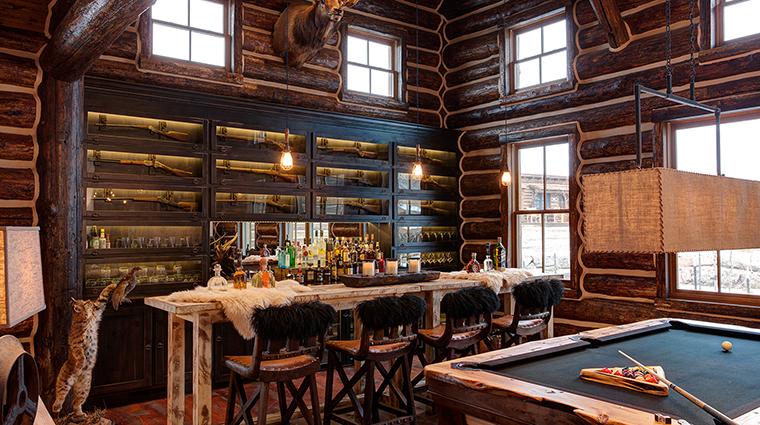 Magee Homestead interior lodge bar
