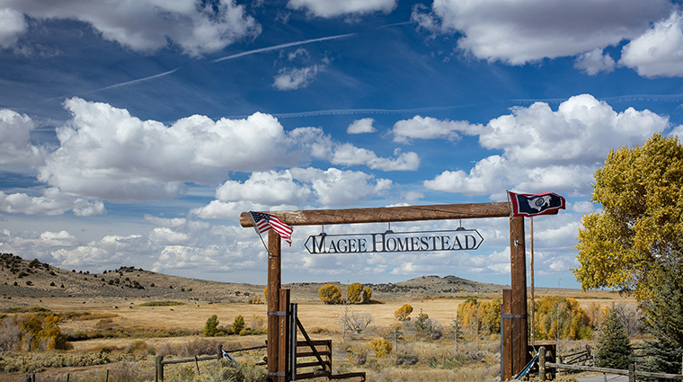 Magee Homestead welcome gates