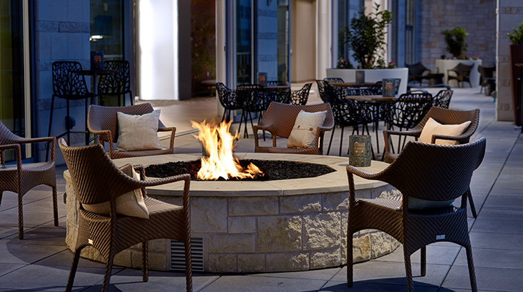 Property ArcherHotelAustin Hotel Dining SecondBar&KitchenTerraceFireplace LodgeworksPartners