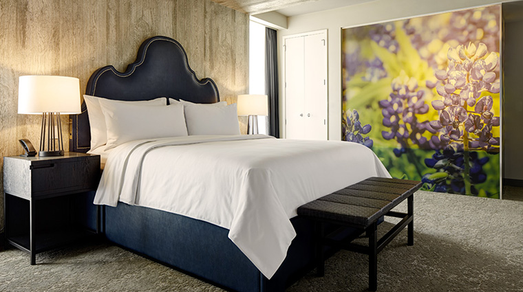 Property ArcherHotelAustin Hotel GuestroomSuite ArchersDenBedroom LodgeworksPartners