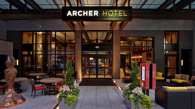 Property ArcherHotelNewYork Hotel Exterior EntrancePatio ArcherHotel