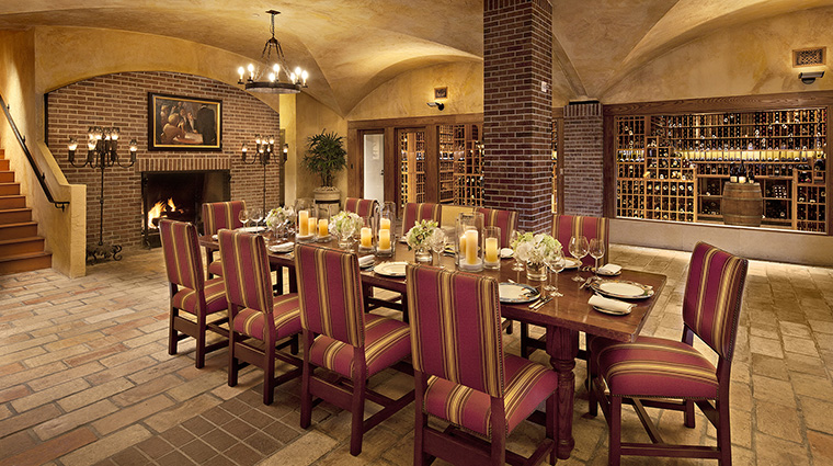 Property BacaraResort&Spa Hotel Dining AngelOakWineCellar PacificHospitalityGroup