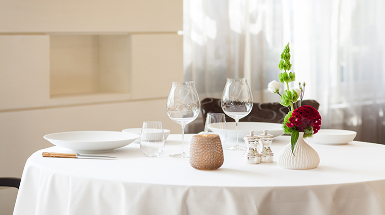Property BeauRivage Hotel Dining TableSetting HotelBeauRivage