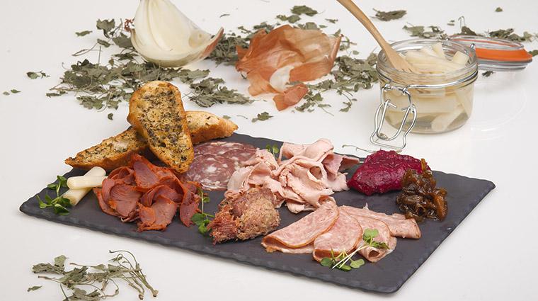 Property BistroLaurentienLaCoupole Restaurant Dining PiqAssietteCharcuteries HotelLeCrystalMontreal