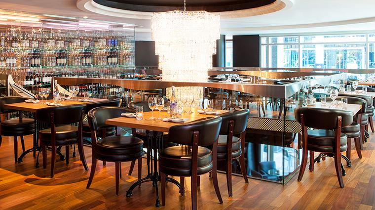 Property BistroLaurentienLaCoupole Restaurant Dining SecondFloorDining HotelLeCrystalMontreal