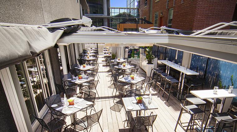Property BistroLaurentienLaCoupole Restaurant Dining Terrace HotelLeCrystalMontreal