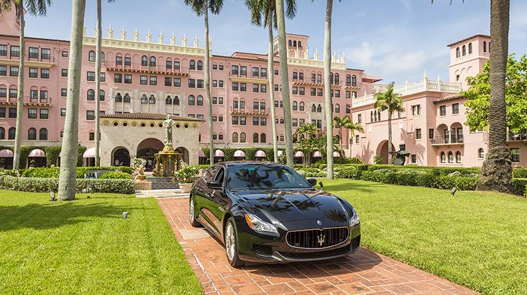 Property BocaRatonResort&Club Hotel Exterior ResortExteriorFacadewithMaseratiHouseCar HiltonWorldwide