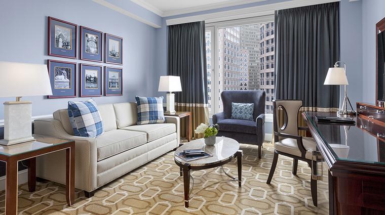 Property BostonHarborHotel Hotel GuestroomSuite DeluxeLivingRoom BostonHarborHotel