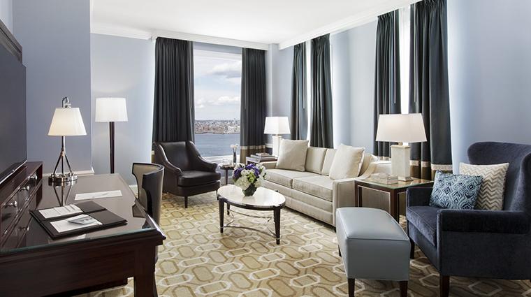 Property BostonHarborHotel Hotel GuestroomSuite HarborviewSuiteLivingRoom BostonHarborHotel