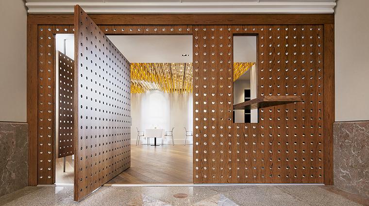 Property COMOTheHalkinLondon Hotel Dining AmetsaEntrance TheCOMOGroup
