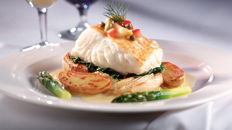 Property ChandlersSteakhouse 6 Restaurant Food Halibut CreditChandlersSteakhouse