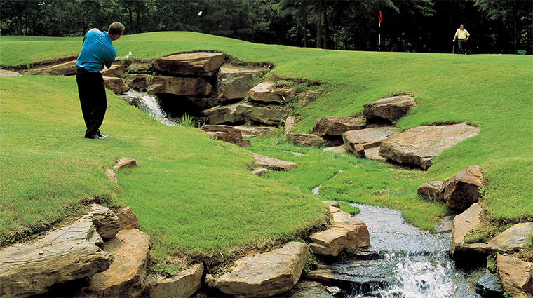 Property ChateauElan 10 Hotel Activities WaterfallontheGolfCourse CreditChateauElan