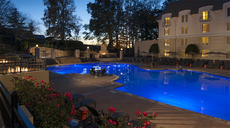 Property ChateauElan 4 Hotel Pool PoolAtNight CreditChateauElan