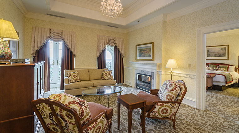 Property ChateauLafayetteatNemacolinWoodlandsResort Hotel GuestroomSuite ChateauClubSuite NemacolinWoodlandsResort