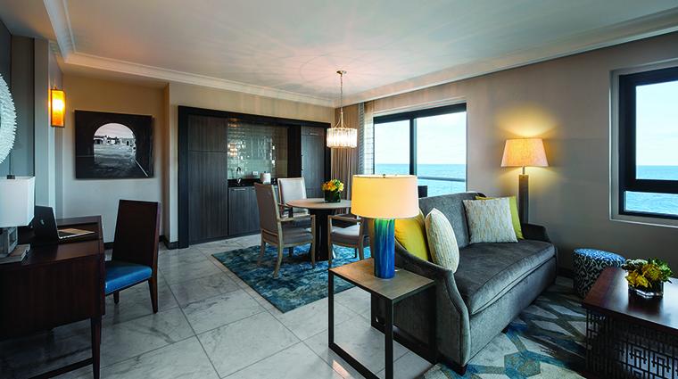 Property CondadoVanderbiltHotel Hotel GuestroomSuite CommodoreOceanfrontOneBedroomTerraceSuiteLivingArea CondadoVanderbilt