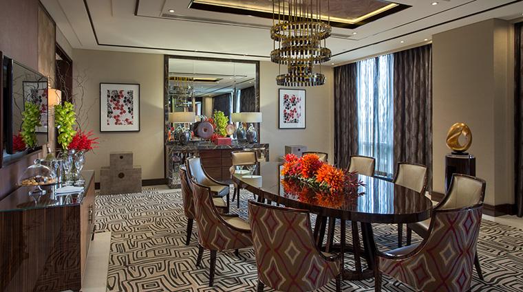 Property CrownTowersManila Hotel GuestroomSuite CrystallVillaDiningArea CityofDreamsManila