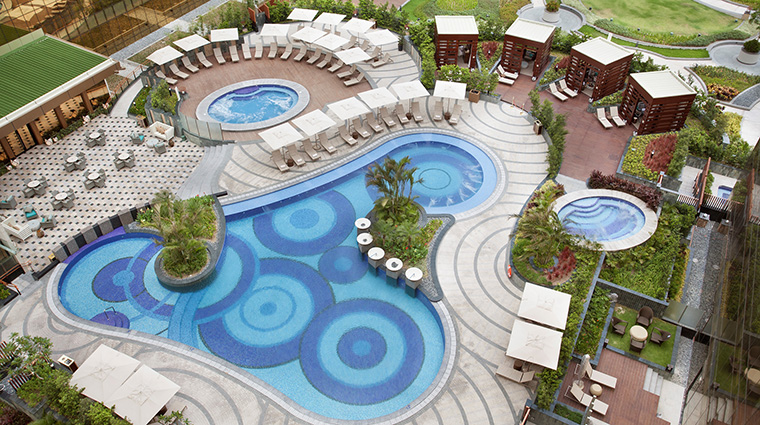 Property CrownTowersManila Hotel PublicSpaces AerialViewofPool CityofDreamsManila