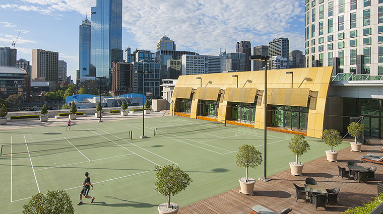 Property CrownTowersMelbourne Hotel PublicSpaces TennisCourts CrownResortsLTD