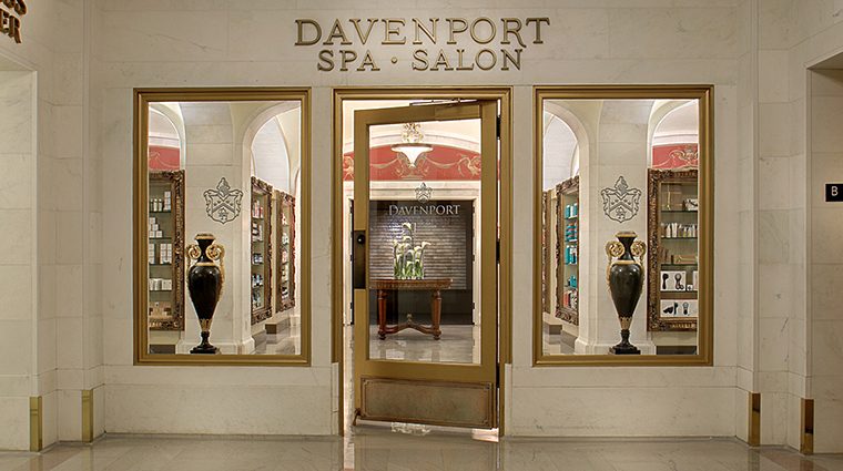 Property DavenportSpaandSalon 1 Spa Style SpaEntrance CreditDavenportHotelCollection