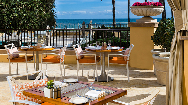 Property EauPalmBeachResort&Spa Hotel Dining TempleOrangeMediterraneanBistroTerrace EauPalmBeachResort&Spa