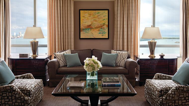 Property FourSeasonsHotelMiami Hotel GuestroomSuite PresidentialSuiteLivingRoom FourSeasonsHotelsLimited