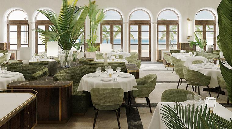 Property FourSeasonsHotels&PrivateResidencesTheSurfClub Hotel Dining DiningRoom2 FourSeasonsHotelsLimited
