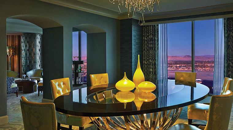 Property FourSeasonsLasVegas Hotel GuestroomSuite PresidentialStripViewDiningRoom FourSeasonsHotelsLimited