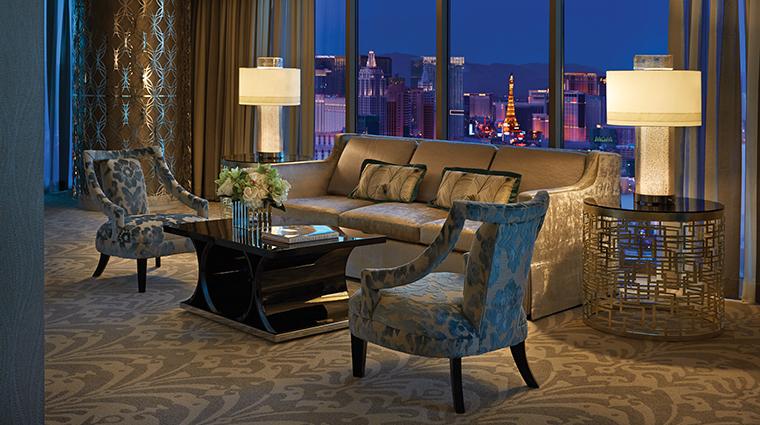 Property FourSeasonsLasVegas Hotel GuestroomSuite PresidentialStripViewLivingRoom FourSeasonsHotelsLimited