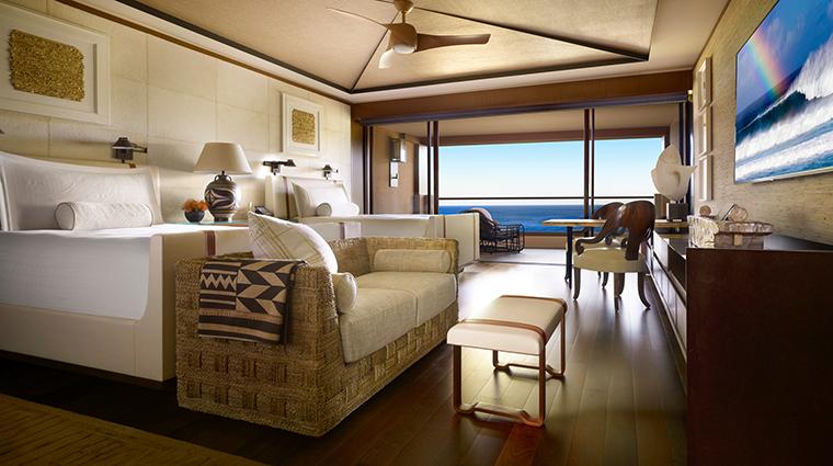 Property FourSeasonsResortLanaiatManeleBay GuestroomSuite OceanfrontDoubleRoom FourSeasonsHotelsLimited