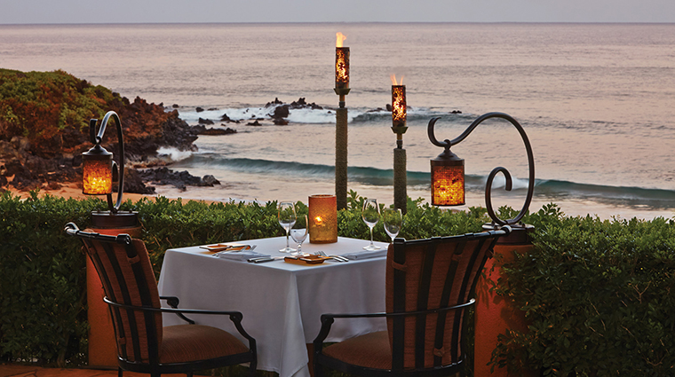 Property FourSeasonsResortMauiatWailea Hotel Dining DiningTable CreditFourSeasons