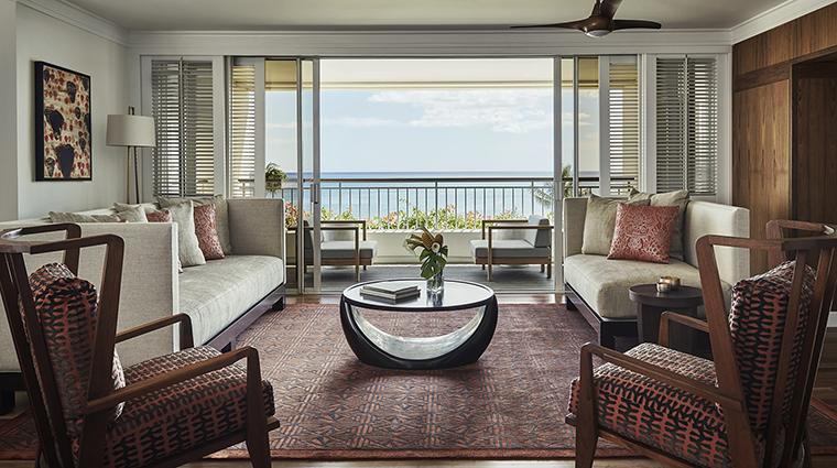 Property FourSeasonsResortOahuatKoOlina Hotel GuestroomSuite PresidentialSuiteLivingRoom FourSeasonsHotelsLimited
