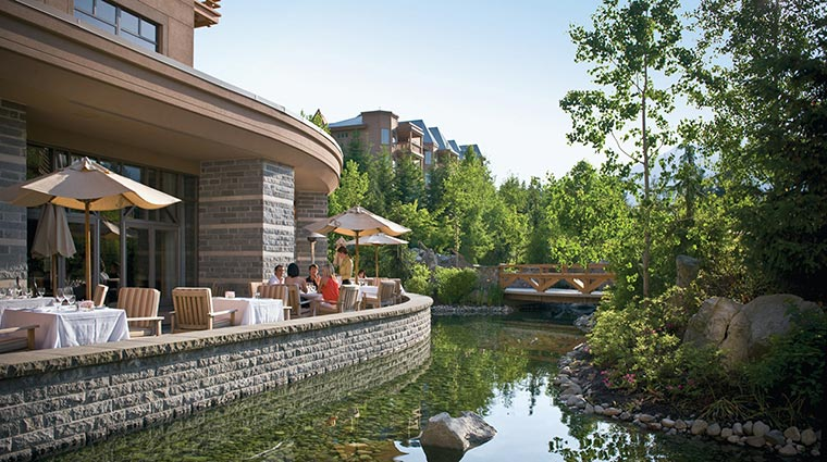 Property FourSeasonsWhistler Hotel Dining OutdoorTerrace CreditFourSeasons