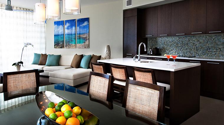 Property GansevoortTurks&Caicos Hotel GuestroomSuites OneBedroomOceanfrontSuiteLivingArea GansevoortHotelGroup