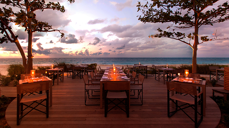 Property GraceBayClub Hotel Dining InfinitiRestaurantatDusk GraceBayResorts