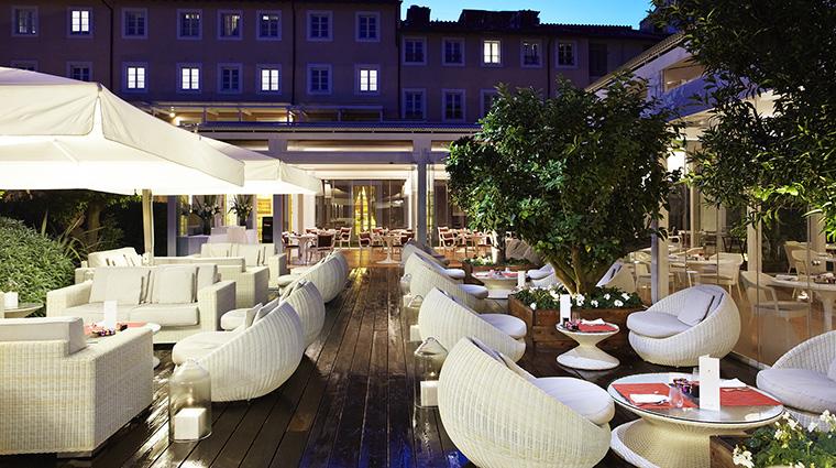 Property GranMeliaRomeVillaAgrippina Hotel BarLounge LiquidGarden2 MeliaHotels&Resorts