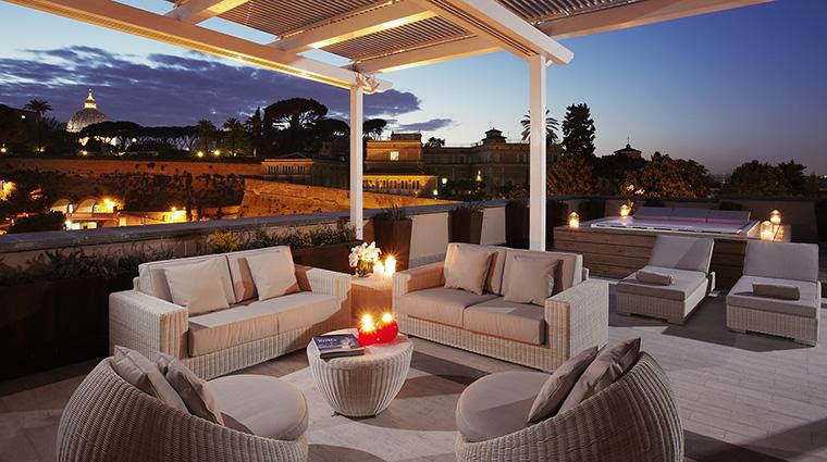 Property GranMeliaRomeVillaAgrippina Hotel GuestroomSuite EternalCitySuiteTerrace MeliaHotels&Resorts