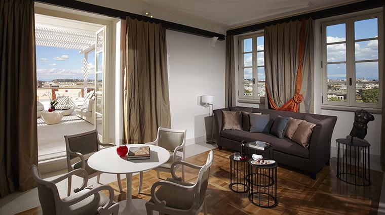 Property GranMeliaRomeVillaAgrippina Hotel GuestroomSuite GrandSuiteLivingRoom MeliaHotels&Resorts