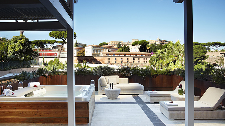 Property GranMeliaRomeVillaAgrippina Hotel GuestroomSuite SupremeRoomwithPrivateWhirlpoolTerrace MeliaHotels&Resorts